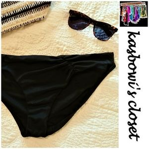 Victoria's Secret Black Ruched Bikini Bottoms